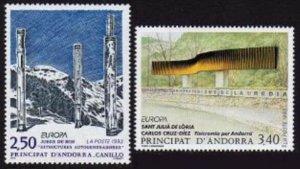 HERRICKSTAMP ANDORRA (FR) Sc.# 425-26 Europa 1993