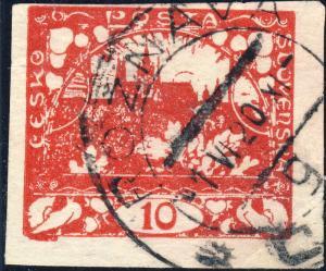 TCHECOSLOVAQUIE / CZECHOSLOVAKIA 1920  ROŽŇAVA * ČSP * g  (V.663-1g) on Mi.3