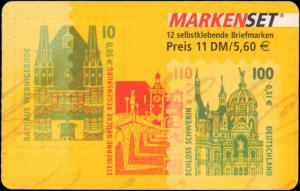 1991-2001 Germany #1666a, Complete Booklet, Never Hinged