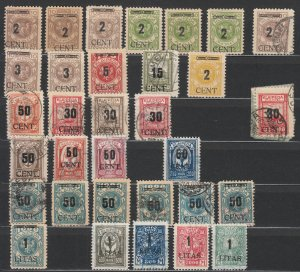 Memel - 1923 Klaipeda surcharged stamp lot (thick figures) - MH (7539)