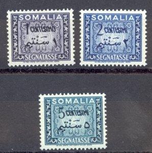 Somalia Sc# J55-J57 MNH 1950 1c-5c Postage Due