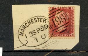 Great Britain Scott 20b Used on piece (Catalog Value $340.00)