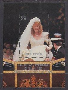 Tuvalu Nui 65 Royal Wedding Souvenir Sheet MNH VF