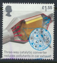 Great Britain Used  Inventions  £1.55 value issued 2019  Catalytic Converter
