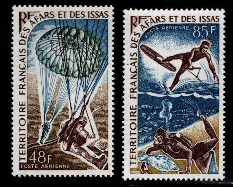 Afars and Issas Scott C51-C52 MNH** Water sports stamp set