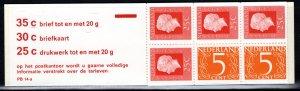 Netherlands Scott # 460Bd, mint nh, cpl. stamp booklet, se-tenant