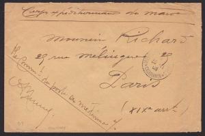 FRENCH MOROCCO 1908 military cover ex Casablanca...........................6672