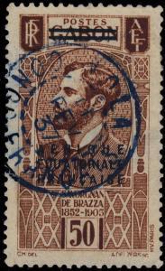 A.E.F. / CONGO - 1937 CAD BLEU NOLA / CONGO FRANÇAIS  SUR Yv. 23 (d'AEF)