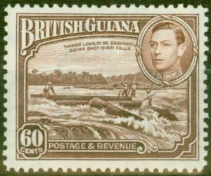 British Guiana 1938 60c Red-Brown SG315 V.F MNH