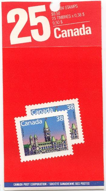Canada - 1988 38c Lunch Saver Booklet VF-NH #BK103b