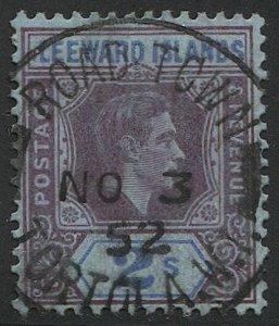 LEEWARD ISLANDS  Sc 112a 1d KGVI, Used VF, SOTN  ROAD TOWN / TORTOLA, W.I.
