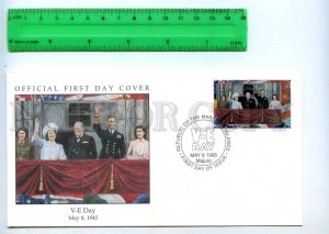 242068 MARSHALL ISLANDS WWII V-E Day 1995 year FDC