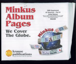 2000 United Nations All American Part 3 Minkus Stamp Album Supplement Pages