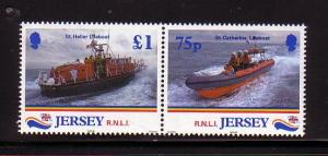 Jersey Sc 888-9 1999  Royal Lifeboat stamps NH