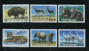 2013 Cook Islands Animals Postage Stamps #1453-1458 Mint Never Hinged Set