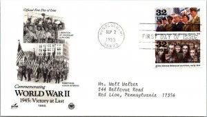 World War II 1945: Victory at Last Honor Veterans First Day Cover 1995 cachet