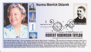 6° Cachets 4958 Robert Robinson Taylor Norma Merrick Sklarek female architect