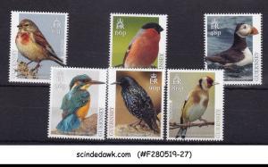 GUERNSEY - 2019 NATIONAL BIRDS - 6V - MINT NH