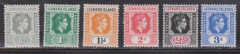 LEEWARD ISLANDS - Scott # 120-5 MH - KGVI