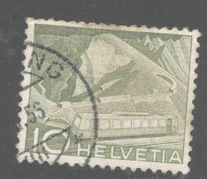 Switzerland Scott 330 Used train stamp