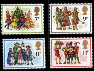 Great Britain Scott 847-850 MNH** 1978 Christmas stamp set