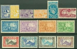 EDW1949SELL : BRAZIL 1934-35 Nice group of 4 VF, Mint OG Cplt sets. Catalog $50.