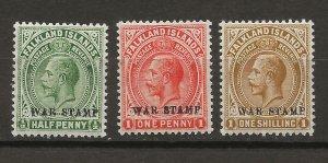 Falkland Is MR1-3 SG 70-72 MNH VF 1952 SCV $7.60* (jr)