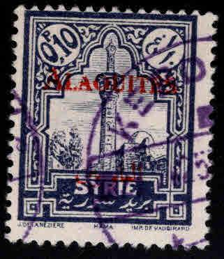 Alaouites Scott 25 Used 1922 red  surcharge