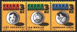 Czech Republic. 1995. 67-69. Liberated theater. MNH.