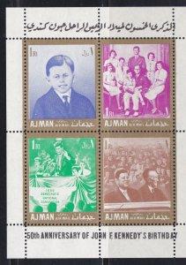 Ajman M # Block 11c & 12c,. John F. Kennedy Birth Anniversary,  NH,