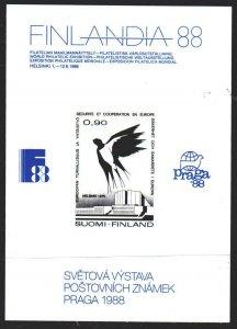 Finland. 1988. souvenir leaf. Philatelic exhibition in Finland. MNH.