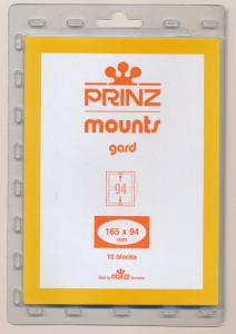 Prinz Scott Stamp Mounts Size 165/94 CLEAR Background Pack of 10