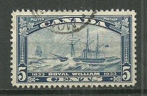 1933 Canada 204  5¢ Steamship Royal William used