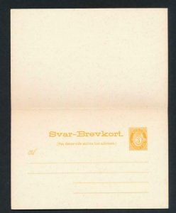 NORWAY Mi. P50 POSTAL STATIONERY POSTAL CARD 3+3 PAID REPLY