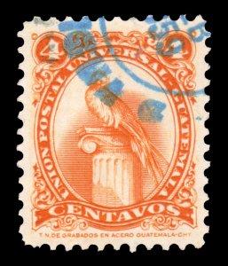 GUATEMALA STAMP 1957. SCOTT # 370. USED. # 9
