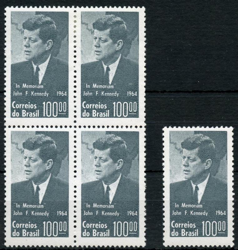 BRAZIL JOHN F. KENNEDY MEMORIAL  STAMPS  MINT NEVER HINGED &  FIRST DAY COVERS
