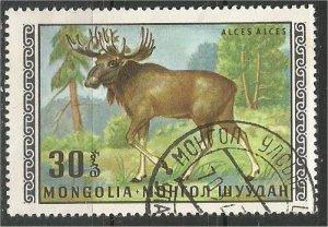 MONGOLIA, 1970, CTO 30m, Moose Scott 566