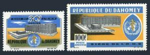 Dahomey 221-C32,MNH.Michel 276-277. New WHO Headquarters,1966.
