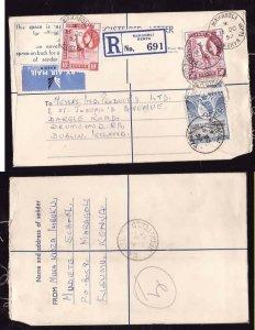 Kenya registered letter to Ireland - Maragoli, Kenya - 16 Oc 1957- registration