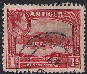Antigua 1938 - 51 KGV1 1d Nelsons Dockyard used SG 99 ( F313 )