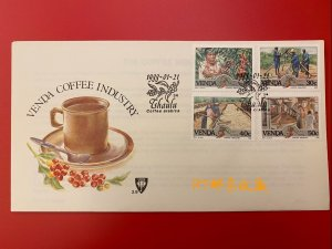 SOUTH AFRICA Venda 1988 FDC Coffee Industry Food Drink Culture Plant Fruit Stamp