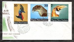 d186 - PAPUA NEW GUINEA 1974 FDC Cover. Birds
