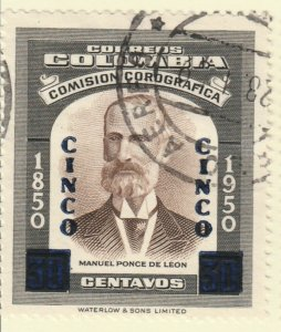 Colombia 1958 5c on 30c Fine Used A8P55F100