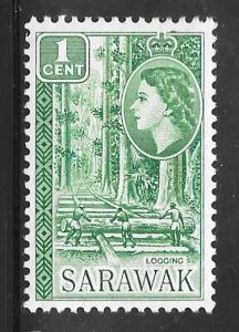 Sarawak 197: 1c Logging, MH, F-VF