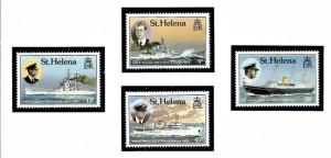 St Helena 475-78 MNH 1987 Ships of Royal Visitors