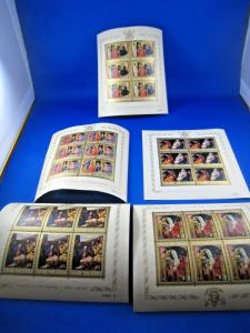 COOK ISLANDS - SCOTT # 170-174  - CHRISTMAS - 5 MNI SHEETS  - MNH