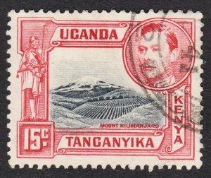 Kenya Uganda Tanzania Scott 72 perf 13 1/2 x 13 VF to XF used.
