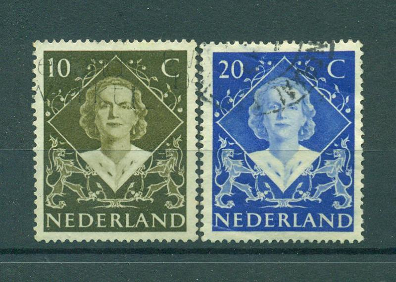 Netherlands sc# 304-305 used cat value $.70