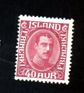 ICELAND #184 MINT F-VF OG HR Cat $300