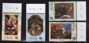 MALTA  Scott 1204-1207 MNH** Saint Catherine Art stamp set